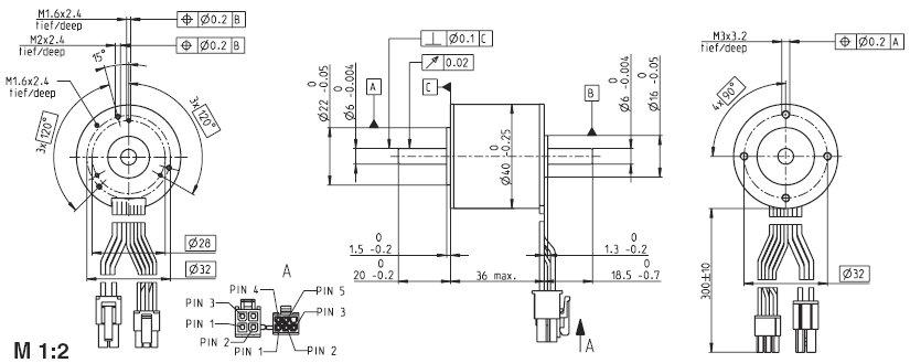 EC-i 40 339243, Бесколлекторный двигатель постоянного тока серии EC-i 40, диаметр 40 мм, мощность 70Вт.